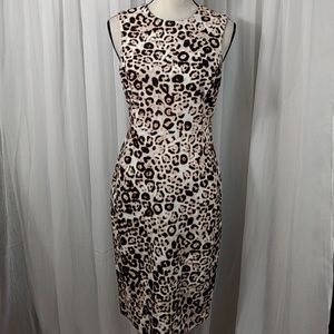 CALVIN KLEIN LEAPORD PRINT DRESS